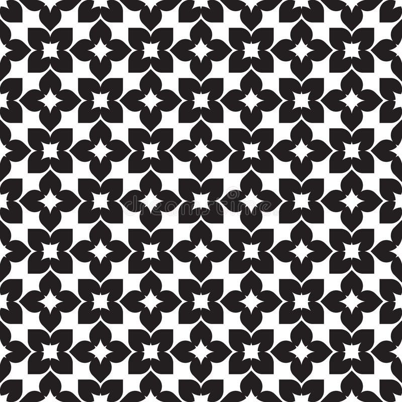 Geometric seamless pattern background. Vector seamless pattern. Modern stylish texture. Repeating geometric tracery. Contemporary graphic design. Black and stock illustration