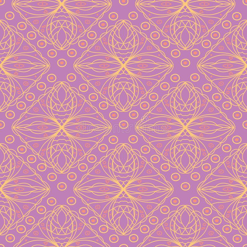Geometric seamless pattern. Bright colored violet background/ vector illustration