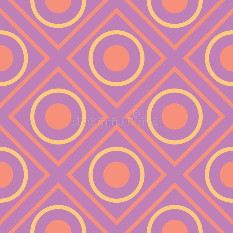 Geometric seamless pattern. Bright colored violet background/ royalty free illustration