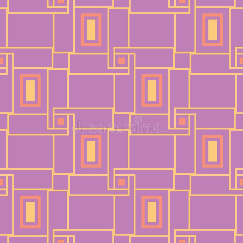 Geometric seamless pattern. Bright colored violet background/ stock illustration
