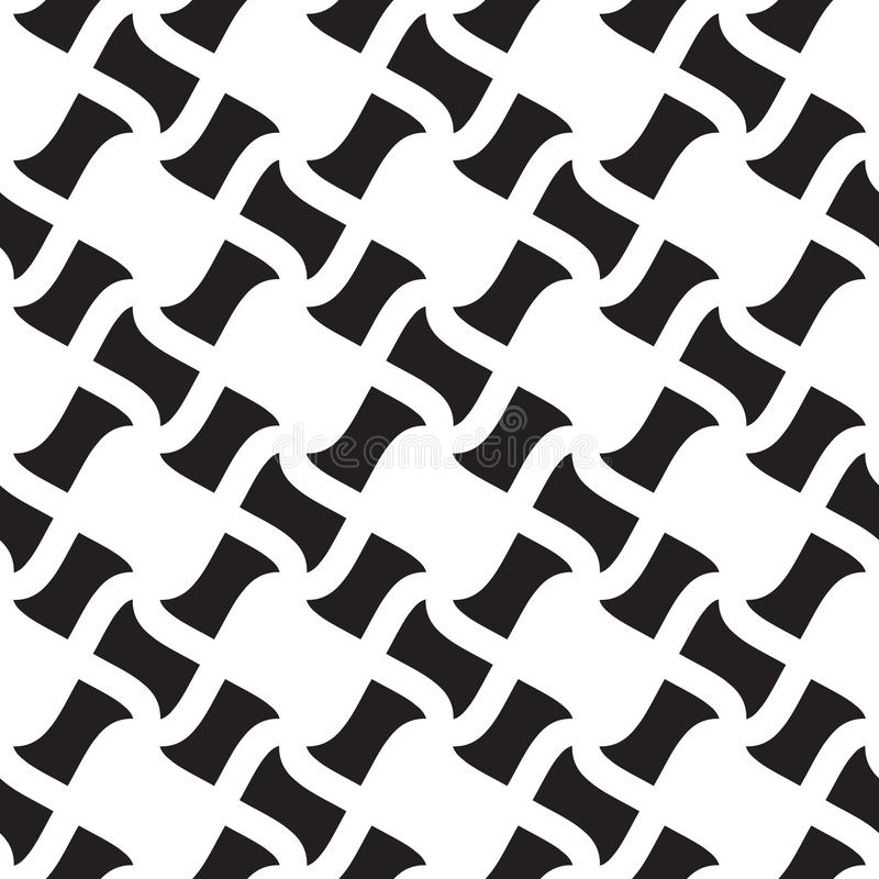 Geometric seamless pattern, seamless checkered pattern, black and white geometric ornament, seamless overlay texture, vector royalty free illustration