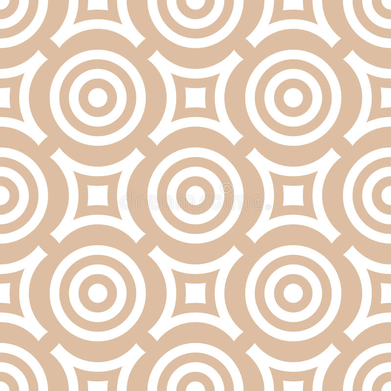 Geometric seamless pattern with circle elements. Brown textile or wallpaper background vector illustration