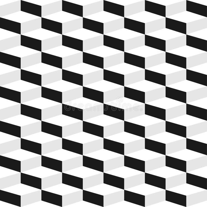 Geometric seamless pattern. Geometric cubes 3d pattern. Vector background eps10 stock illustration