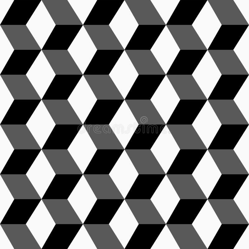Geometric seamless pattern. Geometric cubes 3d pattern. Vector background eps10 royalty free illustration