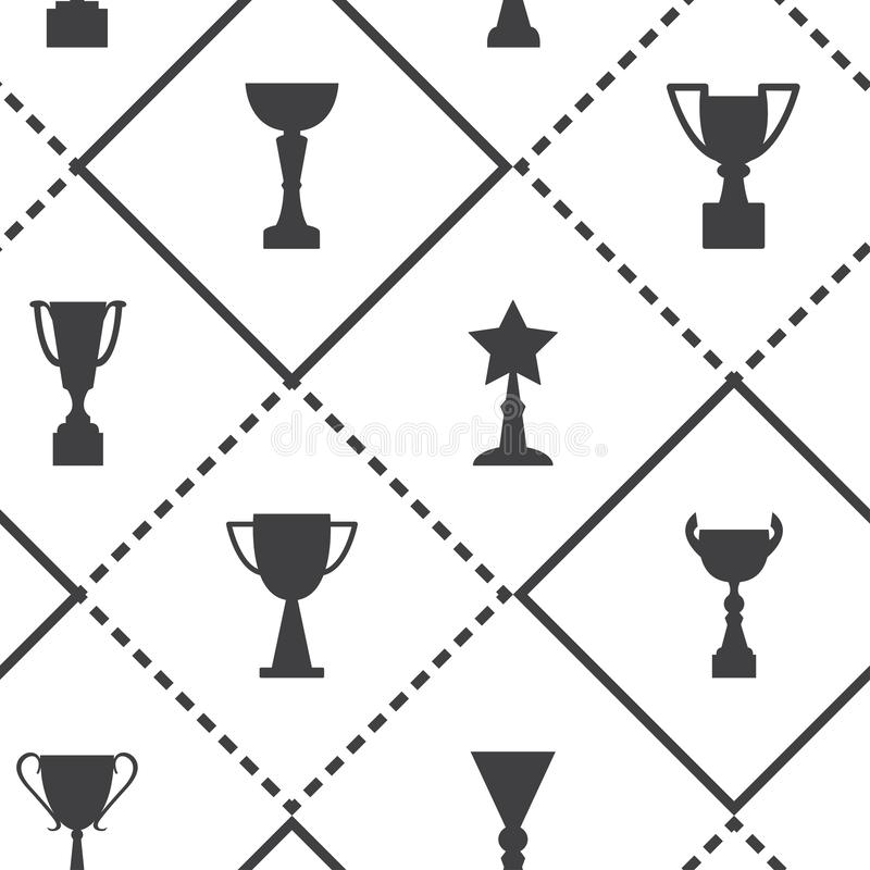 Seamless pattern with cups and awards. Vector illustration vector illustration