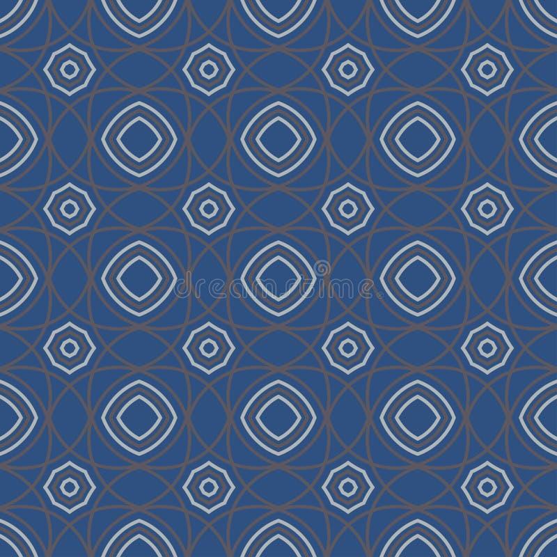 Geometric seamless pattern. Dark blue background stock illustration