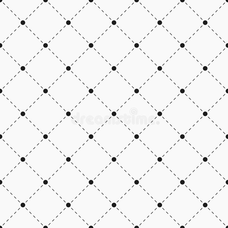 Geometric seamless pattern. Dots with dashed lines. stock illustration