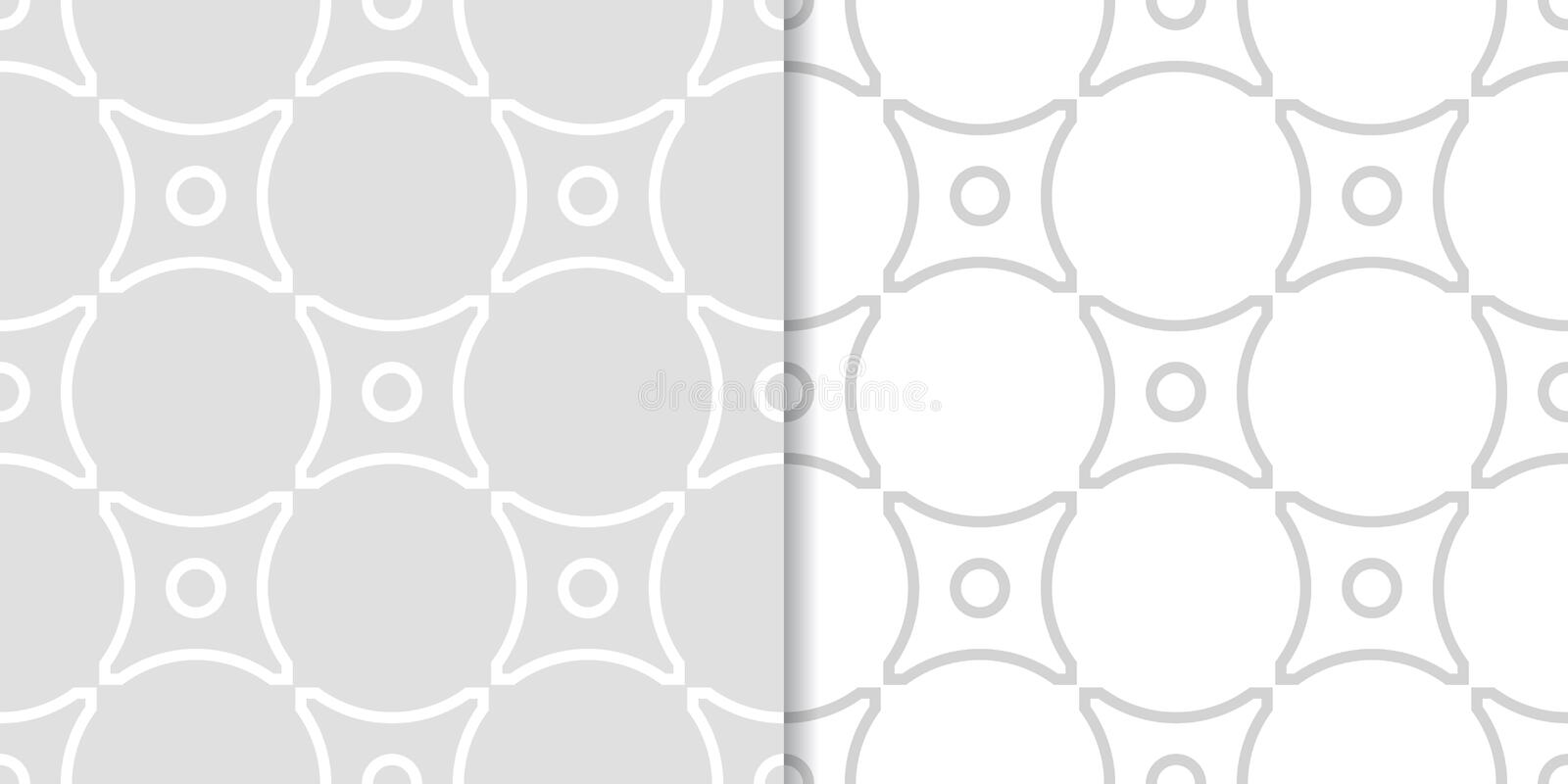 Geometric seamless pattern. Gray background with circle elements vector illustration