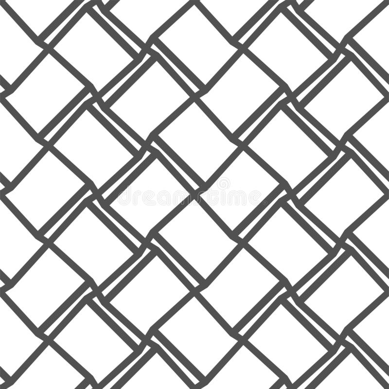 Geometric seamless pattern with gray lines on white background. Template for wallpapers, textile, fabric, wrapping paper stock illustration