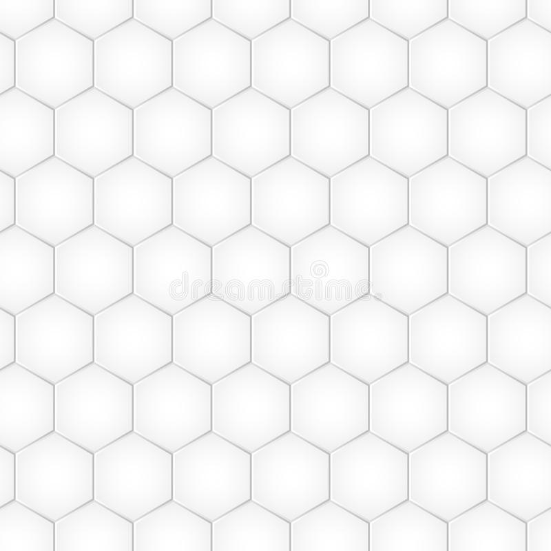 Geometric honeycomb background with hexagons, monochrome tile. Vector vector illustration