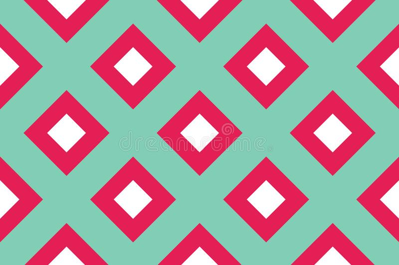 Geometric seamless pattern with intersecting lines, grids, cells. Criss-cross background For printing on fabric, paper, wrapping vector illustration