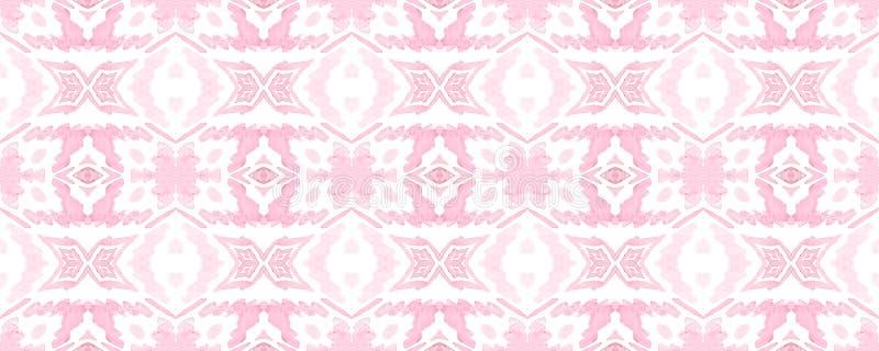 Geometric Seamless Pattern. Geometric Memphis Seamless Pattern. Trendy Random Texture. Watercolor Vibrant Design. Paintbrush Geo Background. Fun Bauhaus stock illustration