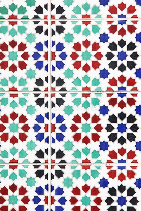 Geometric seamless pattern, Moroccan royalty free stock image