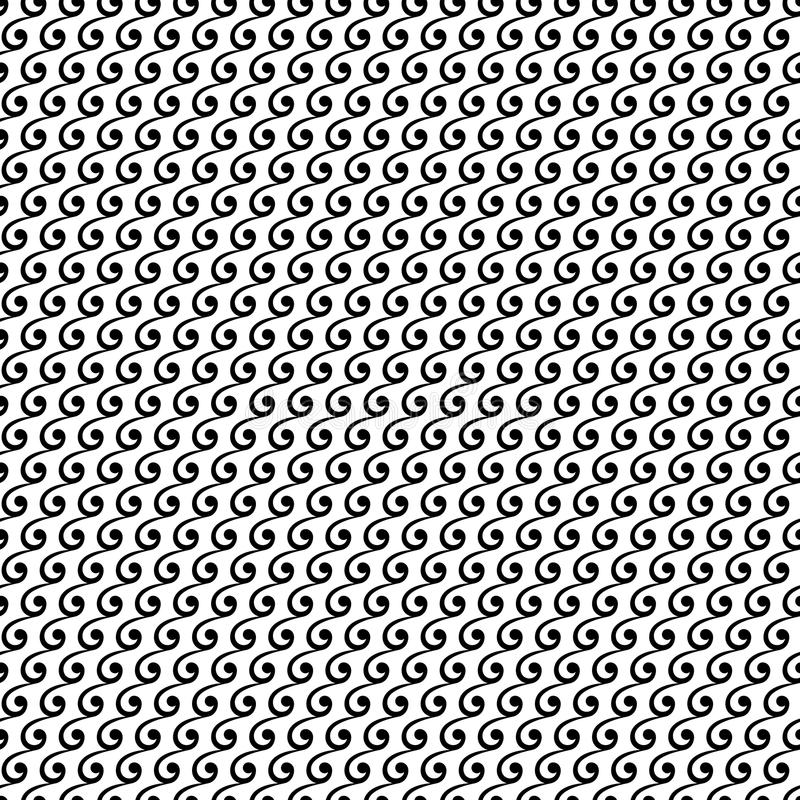 Geometric Seamless Pattern. Geometric ornament. Seamless background. Abstract texture with repeating geometric elements. Black and white colors vector illustration