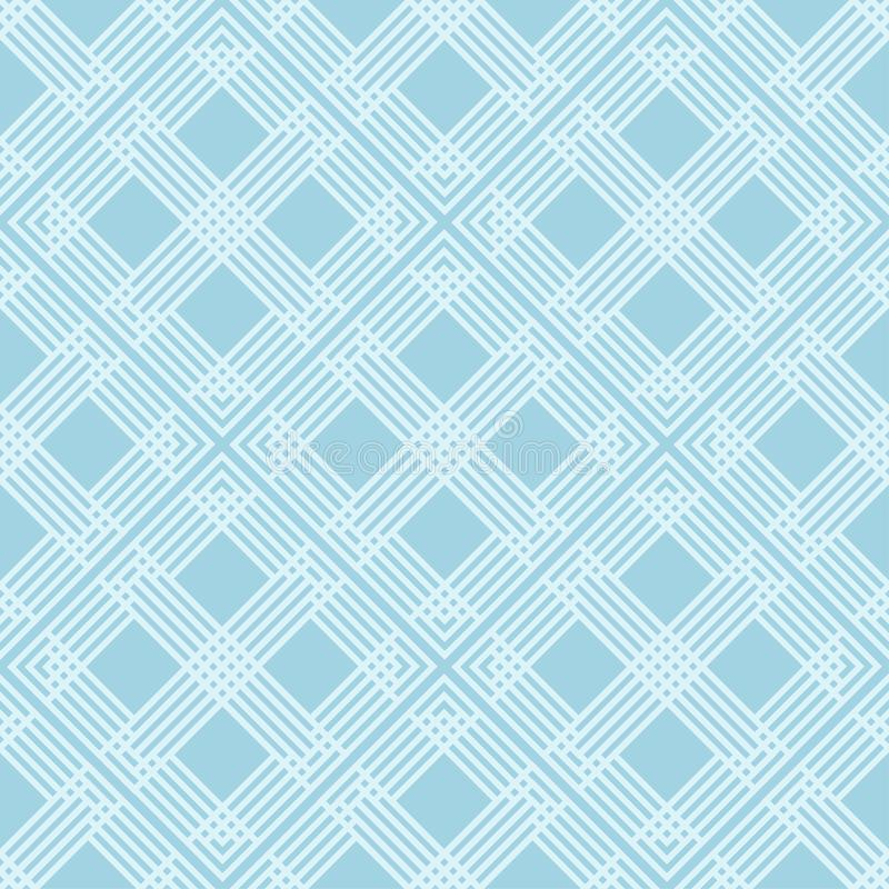 Geometric seamless pattern. Pale blue ornamental design royalty free illustration