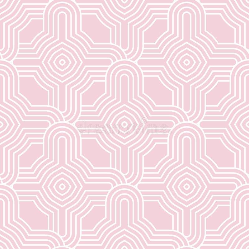 Geometric seamless pattern. Pale pink ornamental design vector illustration
