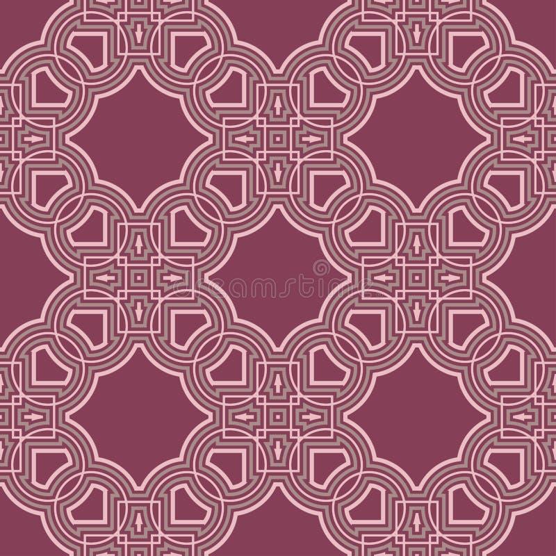 Geometric seamless pattern. Purple red background stock illustration