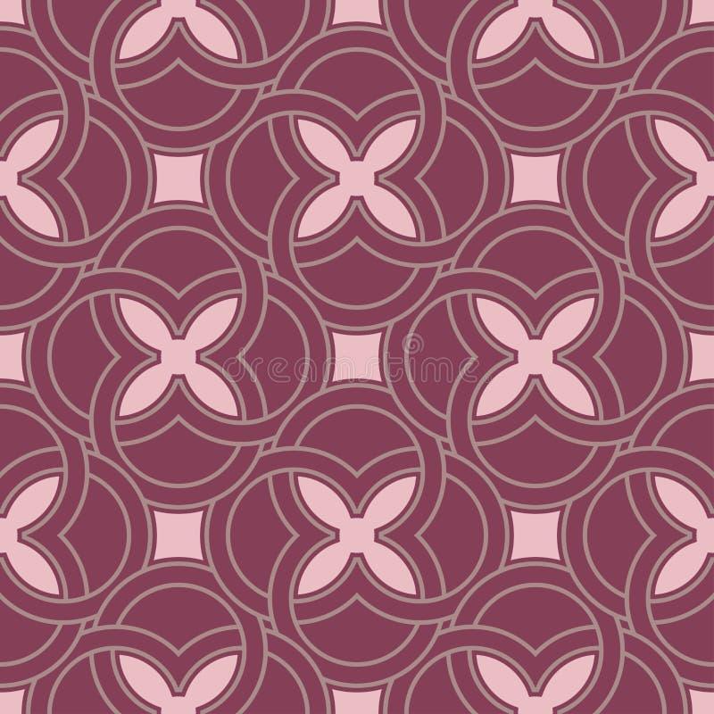 Geometric seamless pattern. Purple red background royalty free illustration