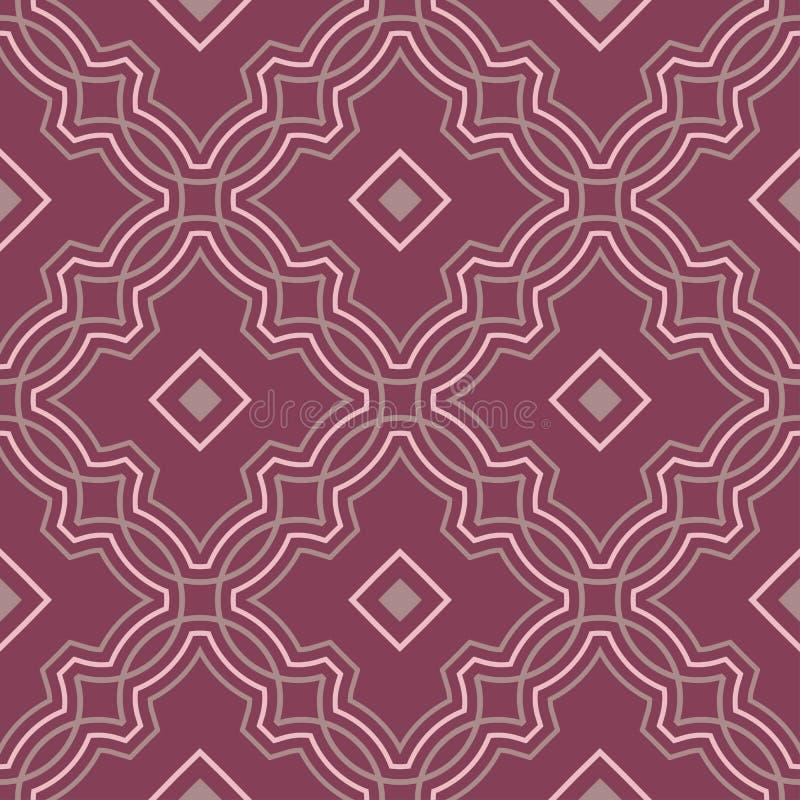 Geometric seamless pattern. Purple red background vector illustration