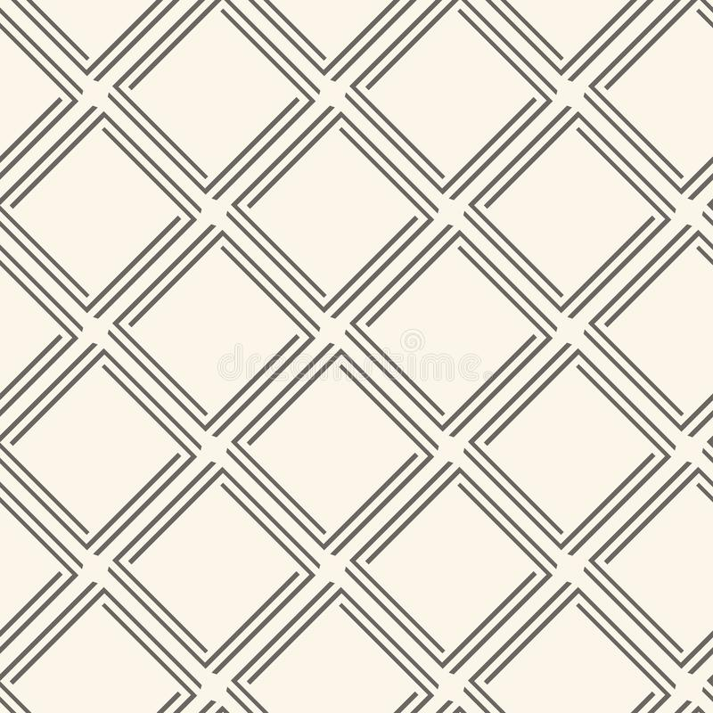 Geometric seamless pattern with rhombuses, dark thin line on pastel background, retro style. Vector vector illustration