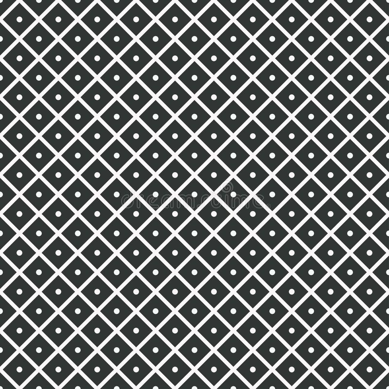 Geometric seamless pattern. rhombuses with dots inside. Vector royalty free illustration