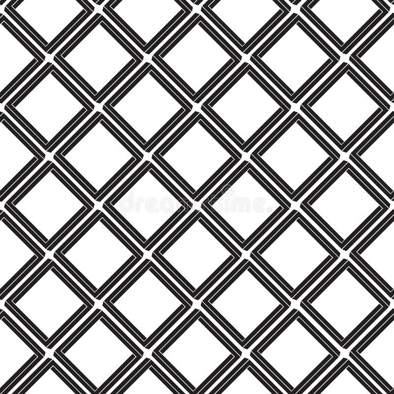 Geometric seamless pattern with rhombuses, tile background, black and white design. Vector vector illustration