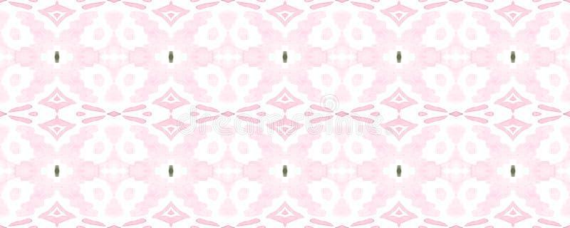 Geometric Seamless Pattern. Trendy Random Texture. Geometric Memphis Seamless Pattern. Fun Rectangle Comtemporary Rapport. Salmon Red Watercolor Vibrant Design stock illustration