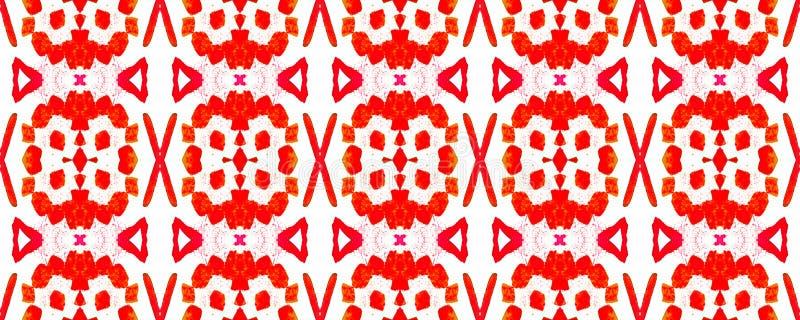Geometric Seamless Pattern. Watercolor Vibrant Design. Paintbrush Geo Background. Fun Bauhaus Geometric Pattern Salmon Red Fun Rectangle Comtemporary Rapport royalty free illustration