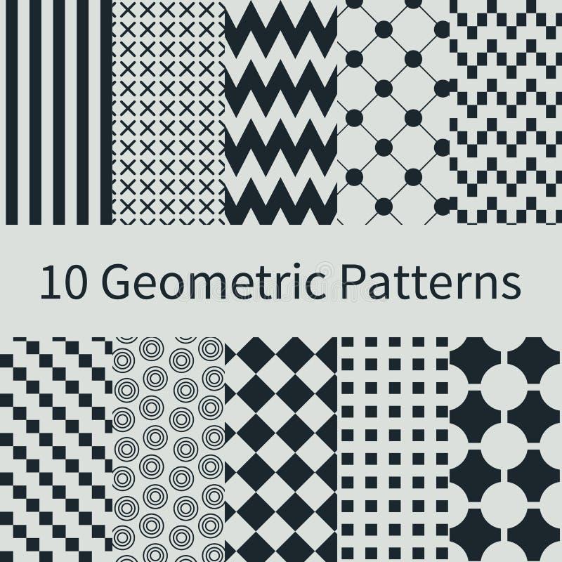 Geometric seamless patterns royalty free illustration