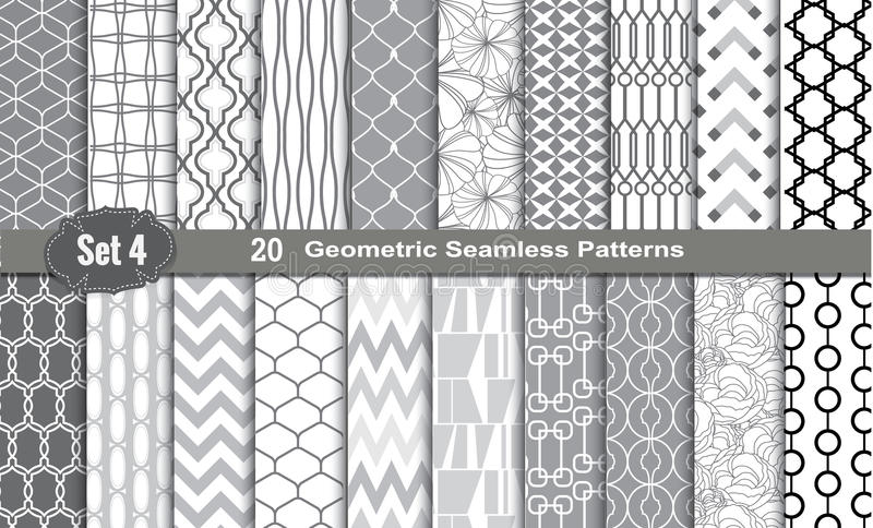 Geometric Seamless Patterns. Pattern swatches included for illustrator user, pattern swatches included in file, for your convenient use vector illustration