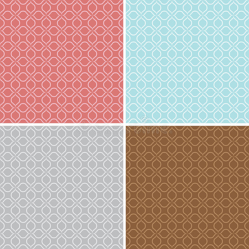 Download Geometric Seamless Patterns - Vector Backgrounds Stock Vector - Illustration of paper, retro: 47890643
