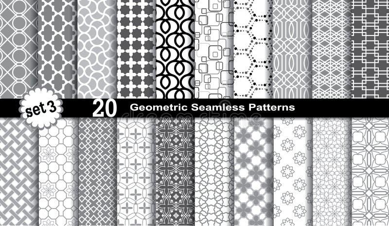 Geometric Seamless Patterns. stock illustration
