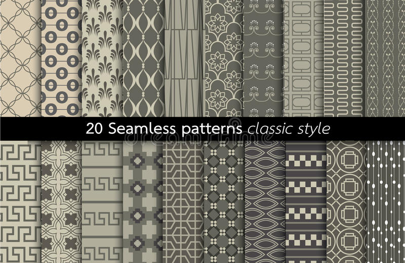 Geometric Seamless Patterns.vector stock illustration