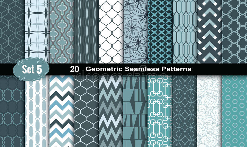 Geometric Seamless Patterns.vector vector illustration
