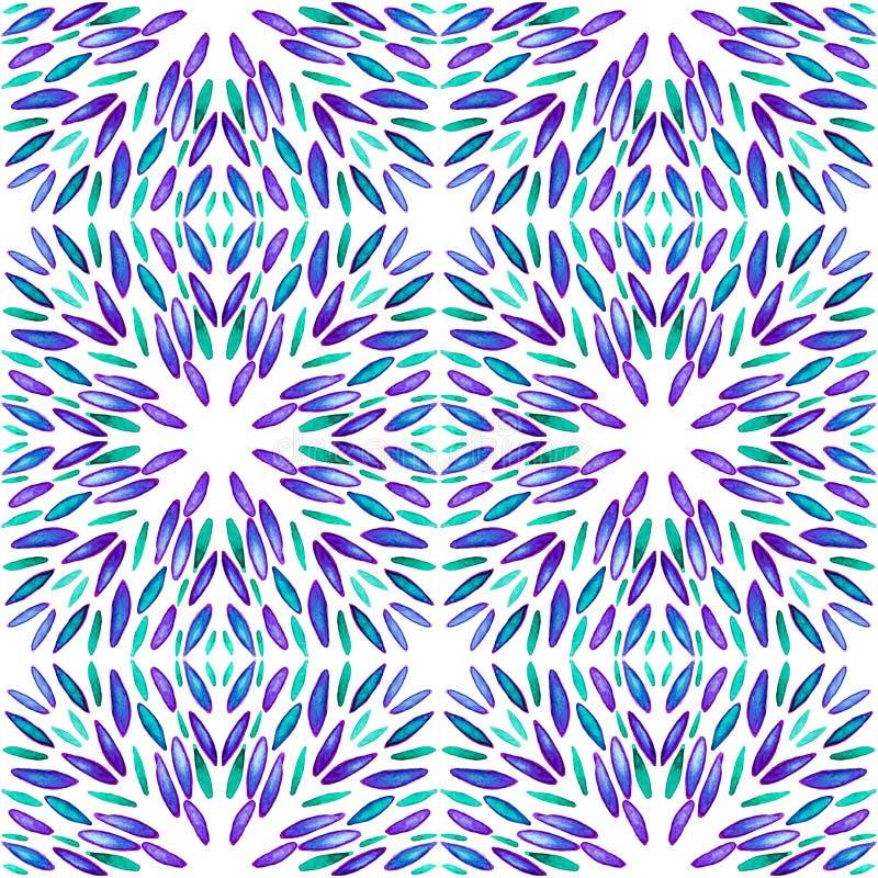 Geometric seamless watercolor background. blots, drips, careless watercolor. Handmade illustration royalty free stock photos