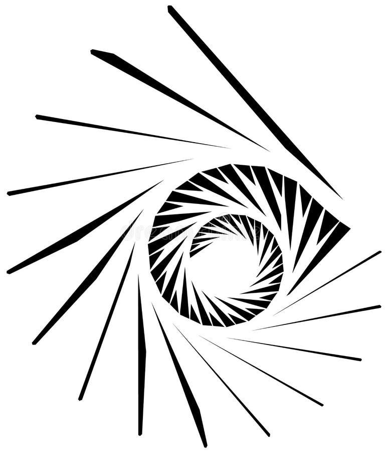 Geometric shape - Angular edgy element on white. Royalty free vector illustration vector illustration