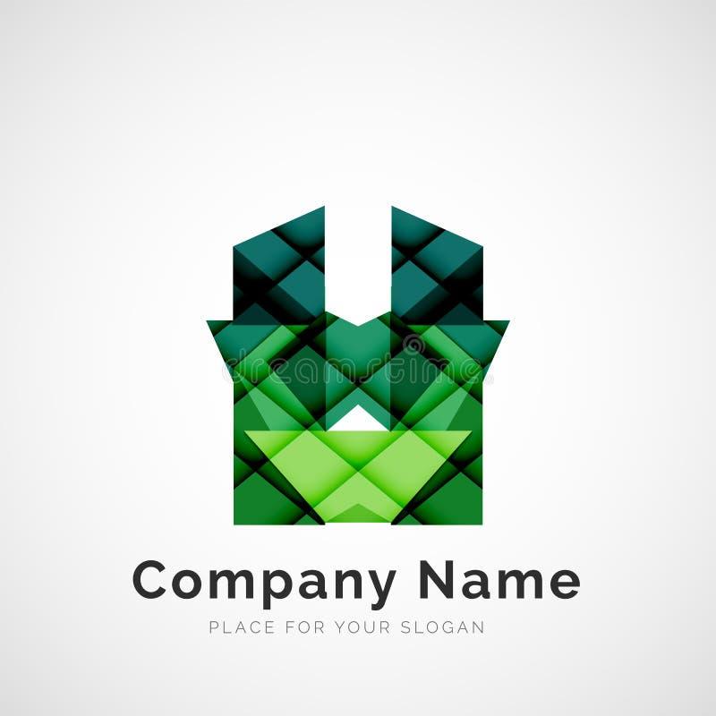 Geometric shape, company logo. Geometric shape icon, company logo design stock illustration