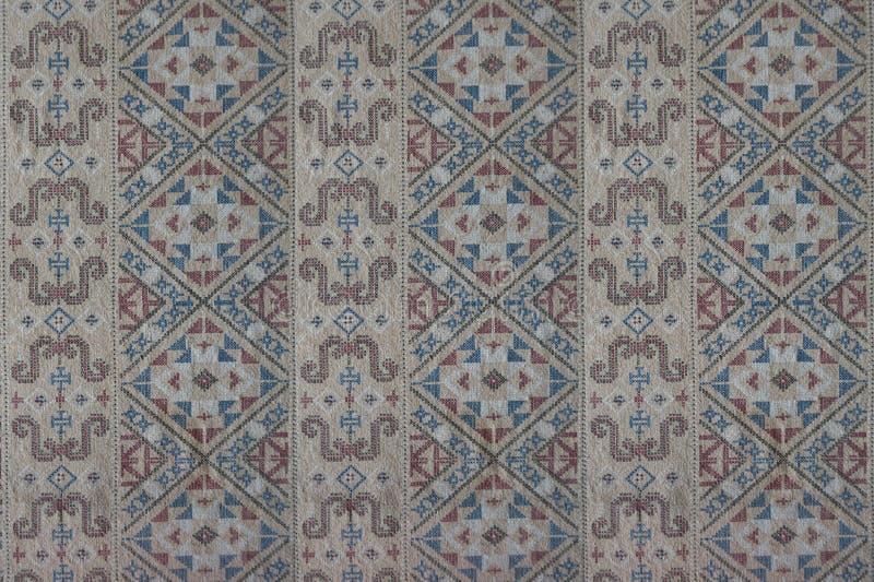 Geometric shape fabric pattern royalty free stock images