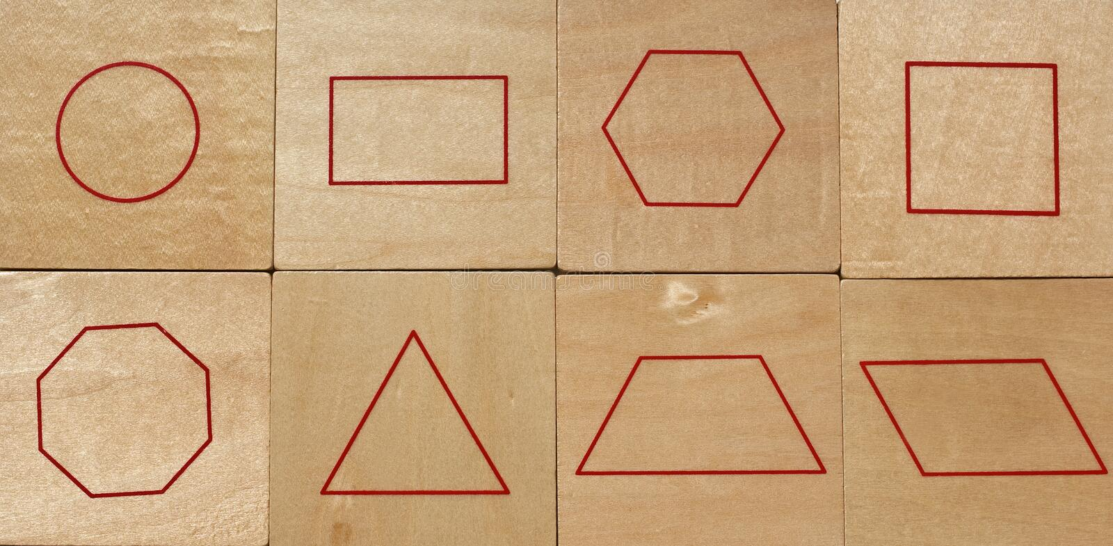 Download Geometric Shapes stock photo. Image of board, shaped - 14519978