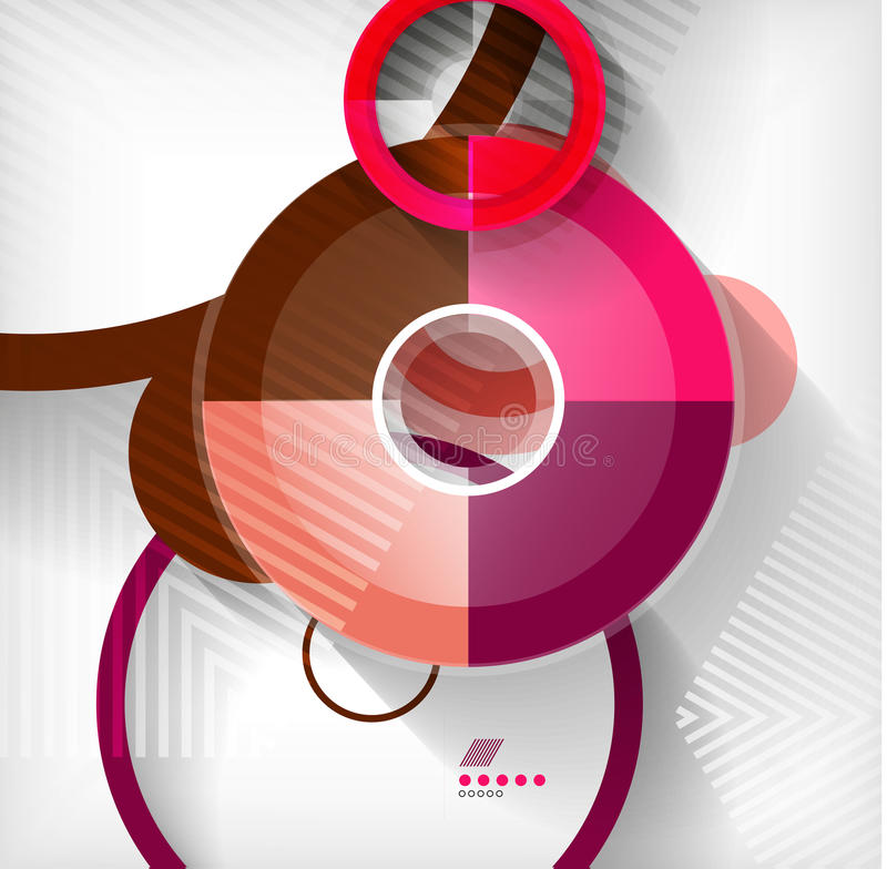 Geometric shapes abstract background royalty free illustration