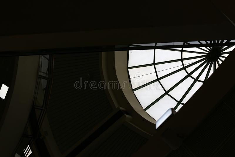 Geometric shapes in construction and architecture royalty free stock photography