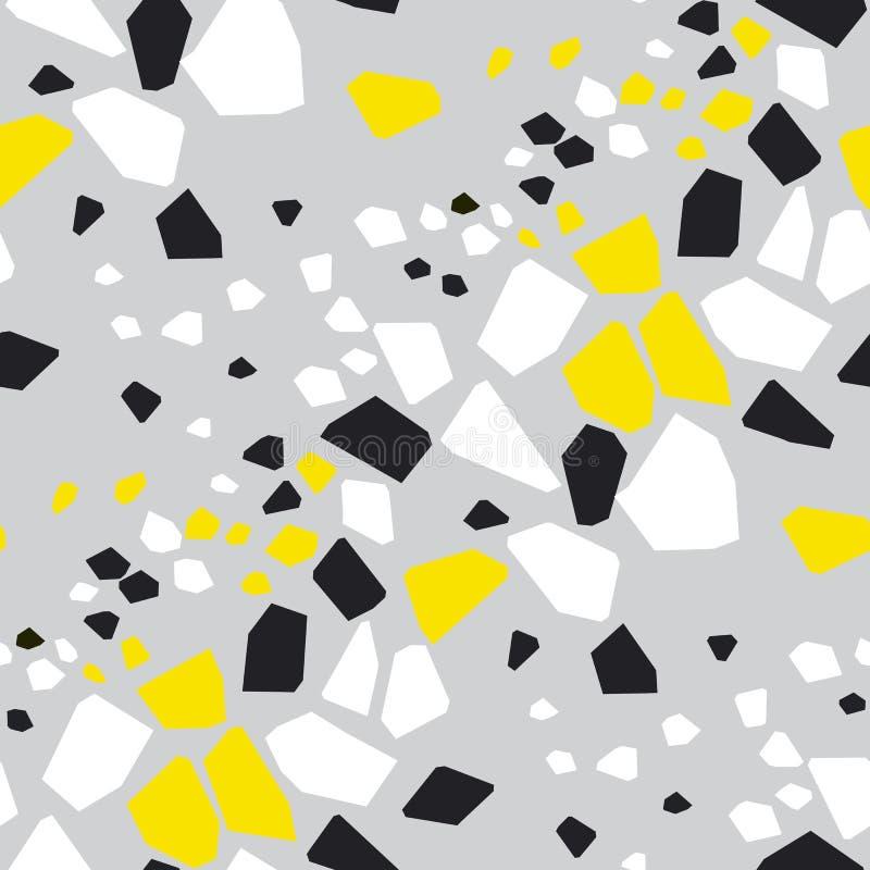 Geometric shapes hand drawn seamless pattern stock illustration