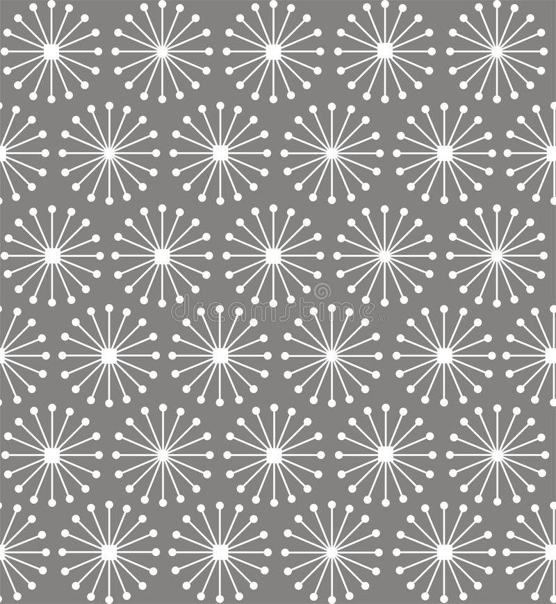 Geometric shapes of lines rays forming circles royalty free illustration