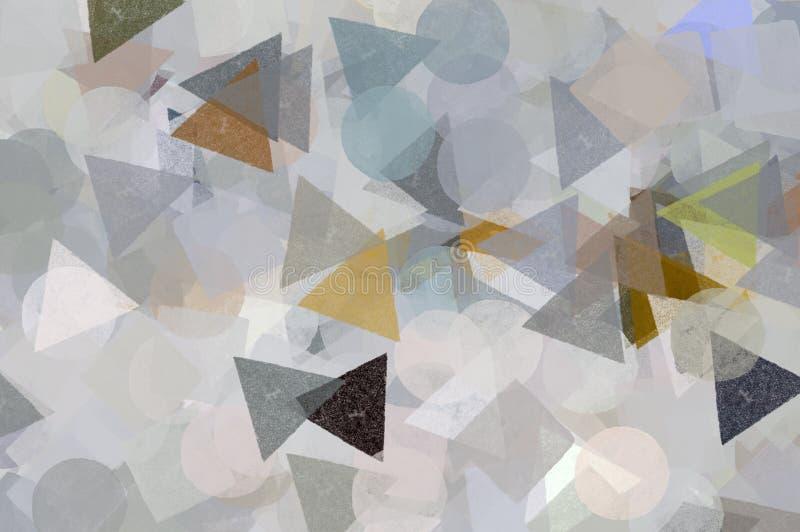 Geometric shapes pattern royalty free illustration