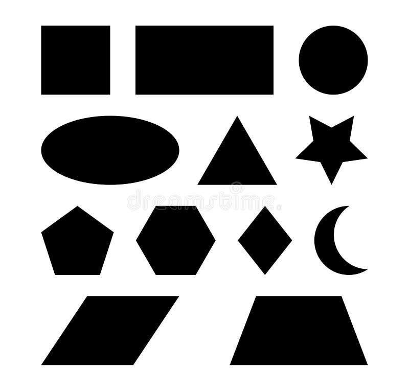 Geometric shapes vector symbol icon design. vector illustration
