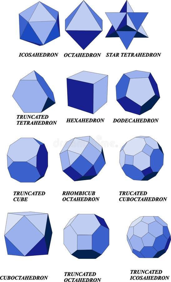 Geometric shapes stock illustration