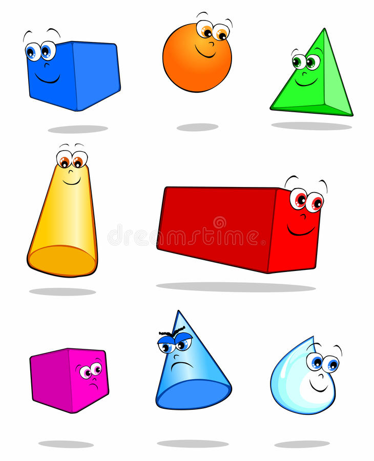 Download Geometric solids stock vector. Image of shape, nuances - 10816274