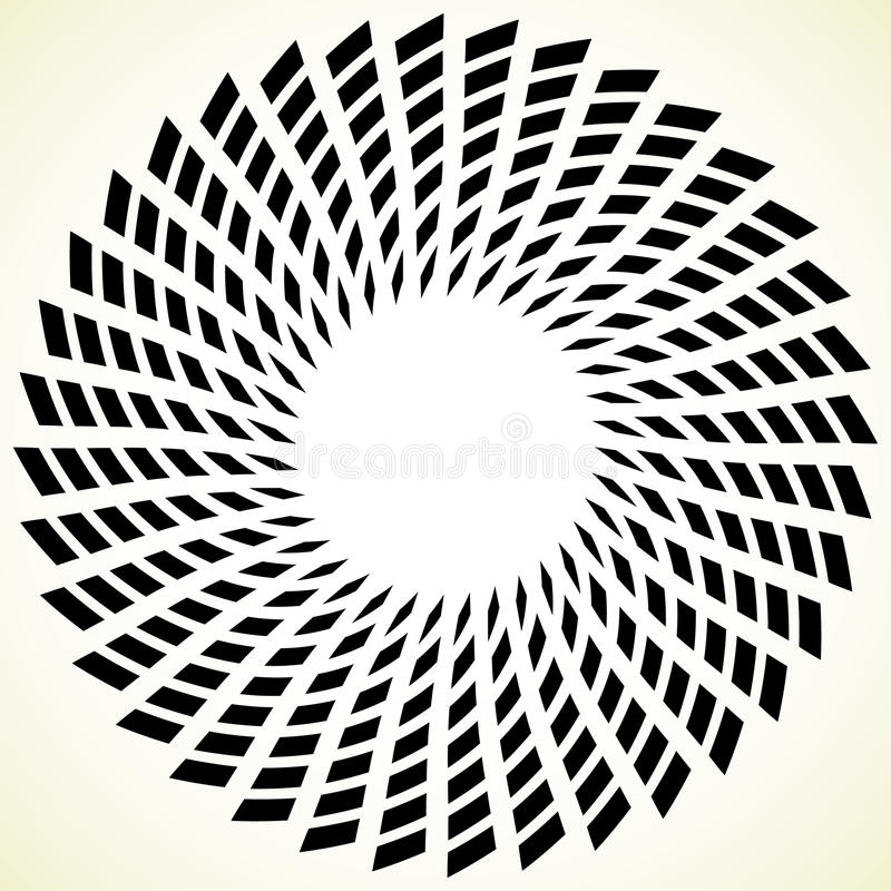 Geometric spiral element. Rotating, spinning abstract decorative. Illustration - Royalty free vector illustration stock illustration