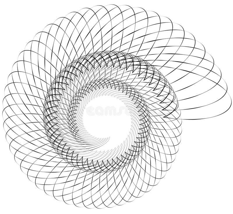 Geometric spiral. Volute, helix elements. Abstract geometric ill. Ustration. - Royalty free vector illustration vector illustration