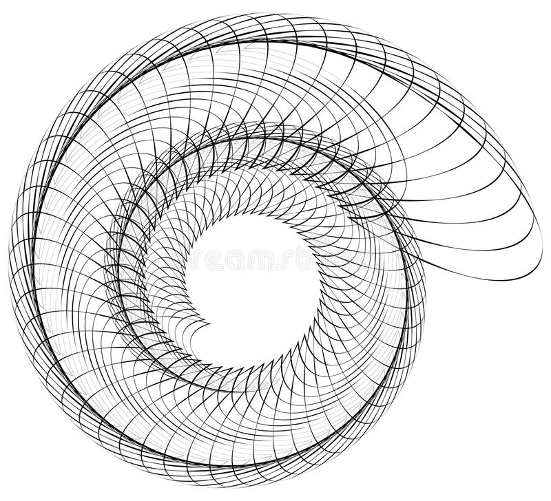Geometric spiral. Volute, helix elements. Abstract geometric. Illustration. - Royalty free vector illustration royalty free illustration